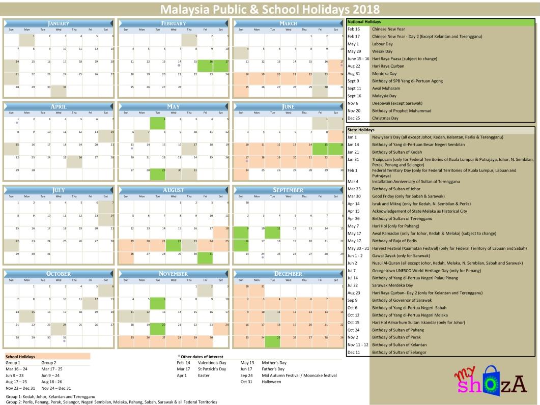 2018 Malaysia Public Holidays